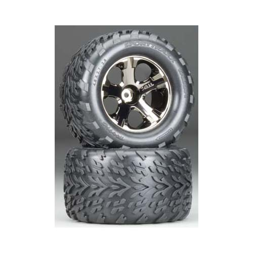 3669A All-Star Blk Chrm Whls Talon Tires Multi-Colored