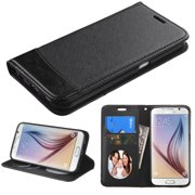 For G920 Galaxy S6 Black/Black MyJacket wallet (with card slot)