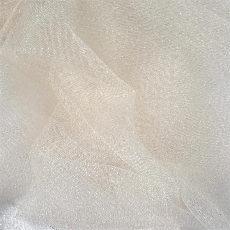 BalsaCircle 54 inch x 15 yards Glittered Tulle Fabric by the Bolt Crafts Sewing Wedding Party Draping DIY Decorations