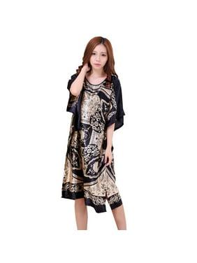 Product Image Women Sexy Loose Soft Silky Nightgown Sleepwear Ladies  Nightdress Kimono Pajamas. EFINNY ed5032c4e