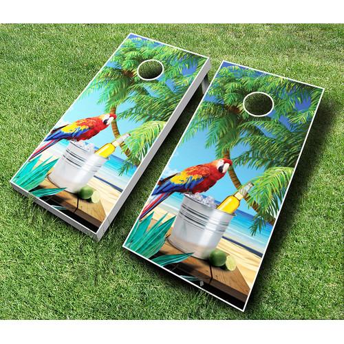 AJJ Cornhole 10 Piece Parrot Cornhole Set by