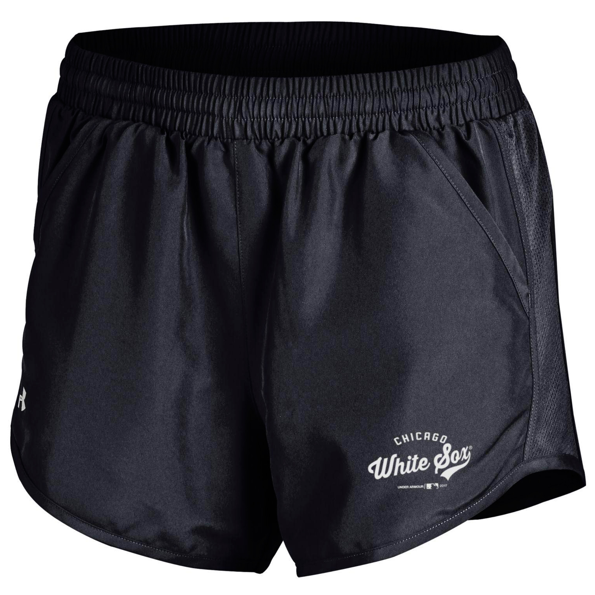 Chicago White Sox Under Armour Women's Fly By Performance Running Shorts - Black