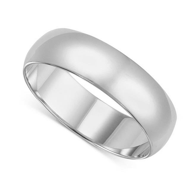 Precious Stars BR-080W-7.5 8 mm 14K White Gold Standard-fit Polished Wedding Band - Size 7.5 - image 1 de 1