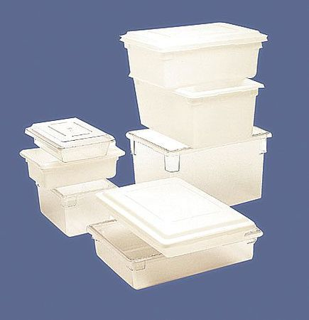 RUBBERMAID Tote Box,26-1/2inL x 22inW x 6inH,White FG352800WHT