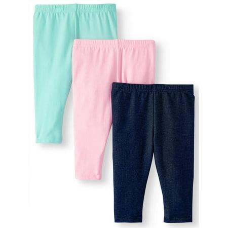 a010e8049 Garanimals - Essential Solid Color Leggings, 3pc Multi-Pack (Baby Girls)