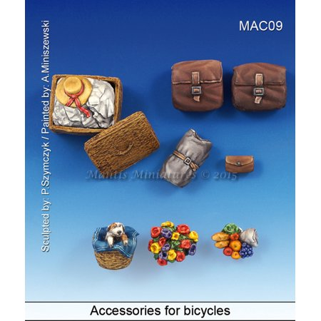 Mantis Miniatures 1:35 Accessories for Bicycles -Resin Details - Detailed Miniature