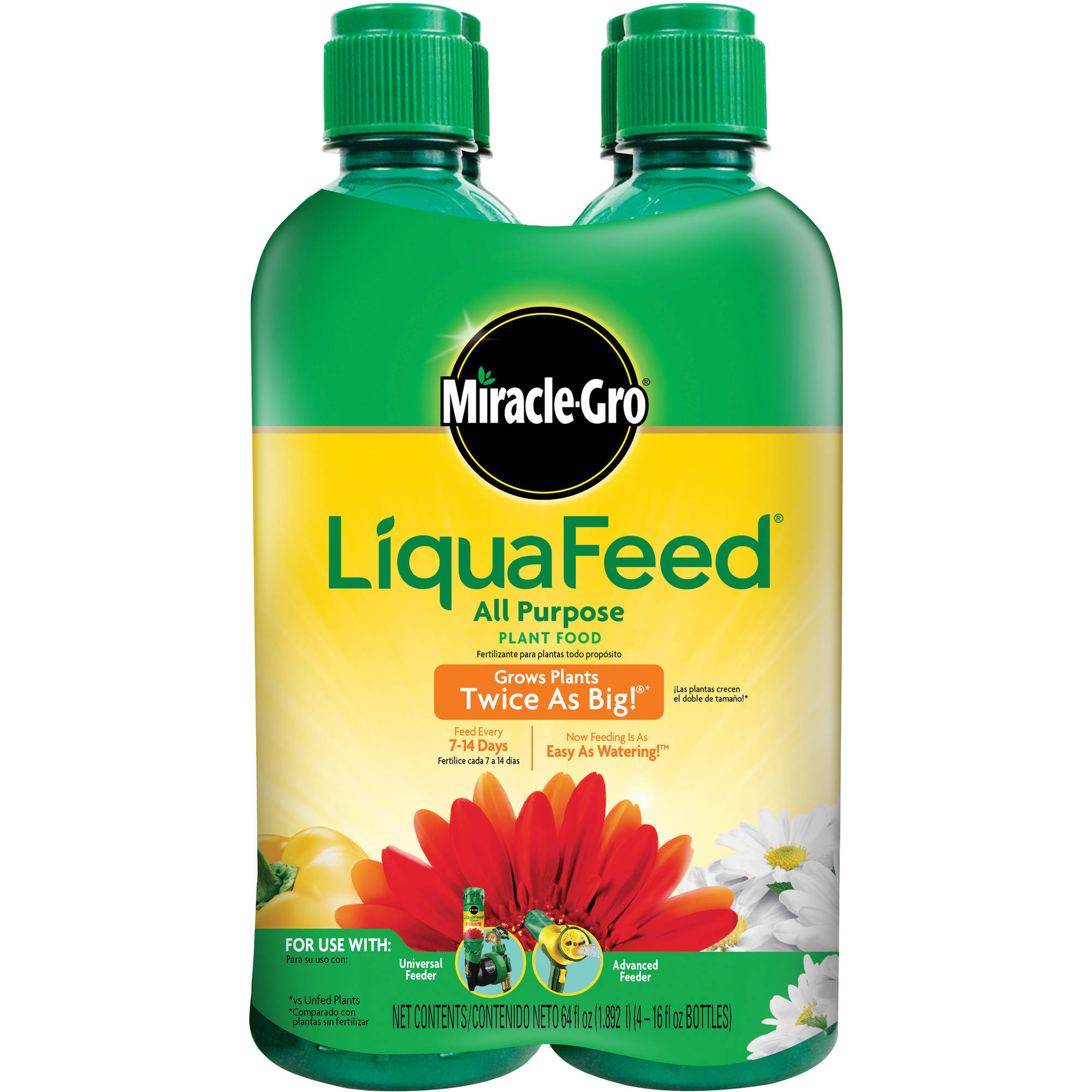 Miracle-Gro LiquaFeed All Purpose Plant Food, 64 oz