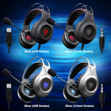 19d517e3bd8 NUBWO N2 3.5mm Wired Gaming Headsets Over Ear Headphones Noise Canceling  Earphone with Microphone Volume ...