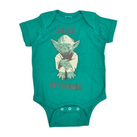 Baby Boys Yoda Jedi in Training Bodysuit - Infant Yoda