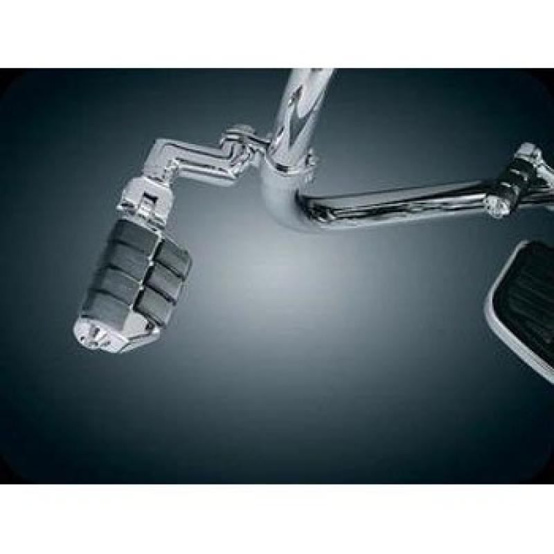 Kuryakyn 7993 Dually Iso-Pegs With Offset & 1 1/4 Magnum Quick Clamps For Harley-Davidson