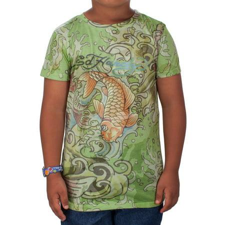 Ed Hardy Kids Girls Koi T-Shirt Ed Hardy Dragon T-shirt