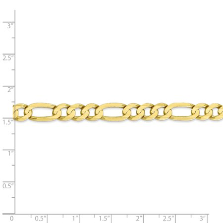 10k Yellow Gold 6.75mm Concave Link Figaro Bracelet Chain Lobster Clasp 8 Inch Necklace Pendant Charm Fine Jewelry Gifts For Women For Her - image 1 de 8
