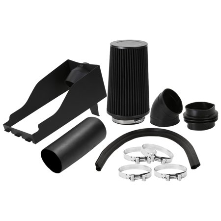 Spec-D Tuning 1999-2003 Ford F250 F350 7.3L V8 Black Cold Air Intake System+Black Filter 1999 2000 2001 2002 2003 (2000 Ford F250 Cold Air Intake)