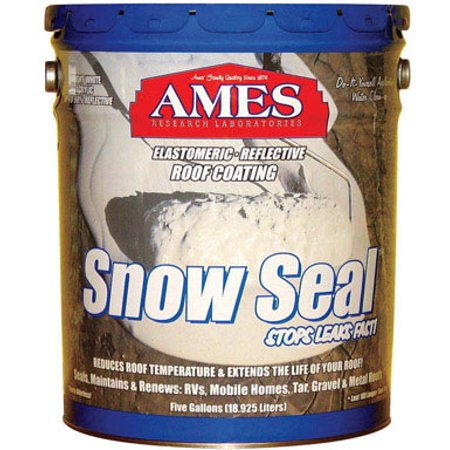 Ames Maximum Stretch Rubber and Acrylic Roof Coating 1 gallon