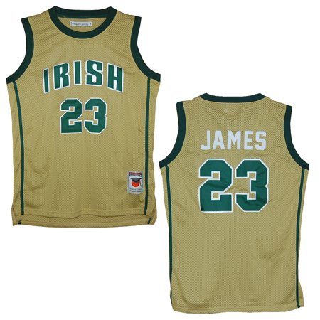 new style 01c52 757d9 St. Vincent - St. Mary Fighting Irish Lebron James Gold High School Jersey  (XL)