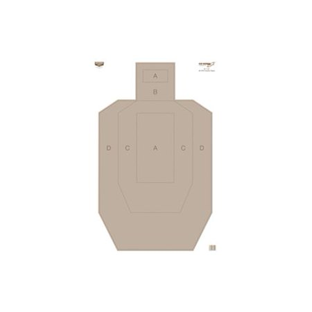 "Birchwood Casey 37025 Eze-Scorer Practice Paper Target 23""x35"" Pack of 100 by"