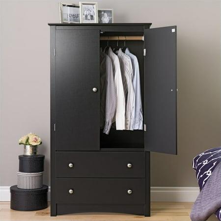 Prepac Sonoma Black Wardrobe Armoire