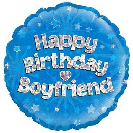 Oaktree 18 Inch Happy Birthday Boyfriend Foil Balloon - image 1 of 1