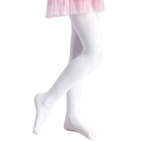 2cab2f540395e Children's Girls Ballet Dance Tights Footed Seamless Solid Stockings Caroj  - image 3 ...