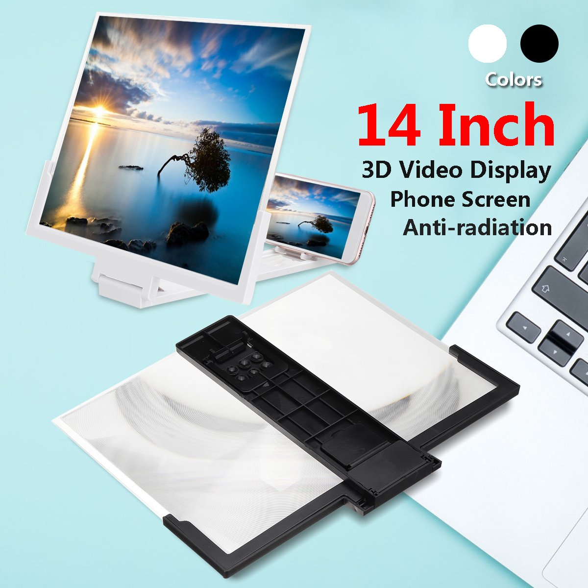 14'' 3D Folding Phone Screen Magnifier Eyes Protection