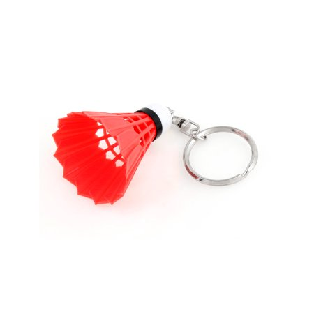 Keychain Handbag Split Ring Red Plastic Badminton Shape Pendant - Micron Bag Plastic Ring