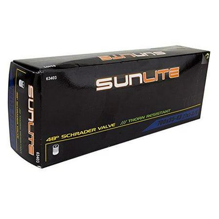 Sunlite Thorn Resistant Schrader Valve Tube, Black 12-1/2 x 2-1/4