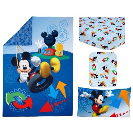 disney mickey mouse adventure day 4 piece toddler bedding set