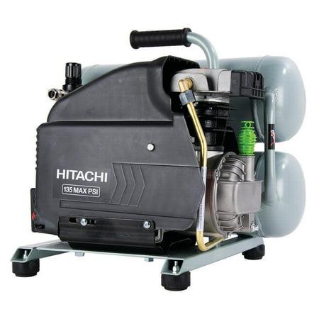 Hitachi EC99S 4 Gallon 2 Hp Portable Twin Stack Air Compressor