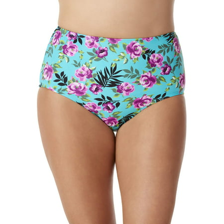 100 Degrees Women's High Waist Bikini Swimsuit Bottom
