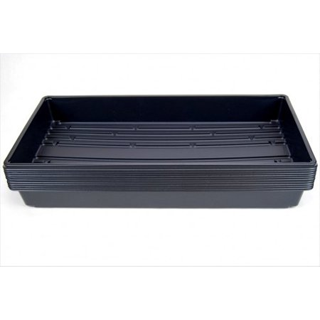 "10 Plant Growing Trays (No Drain Holes) - 20"" x 10"" - Perfect Garden Seed Starter Grow Trays: For Seedlings, Indoor Gardening, Growing Microgreens, Wheatgrass & More - Soil or Hydroponic"