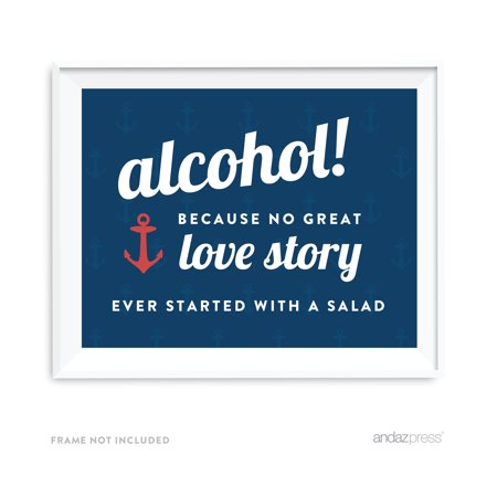Nautical Wedding (Alcohol, No Story Started With A Salad Nautical Ocean Adventure Wedding Party)
