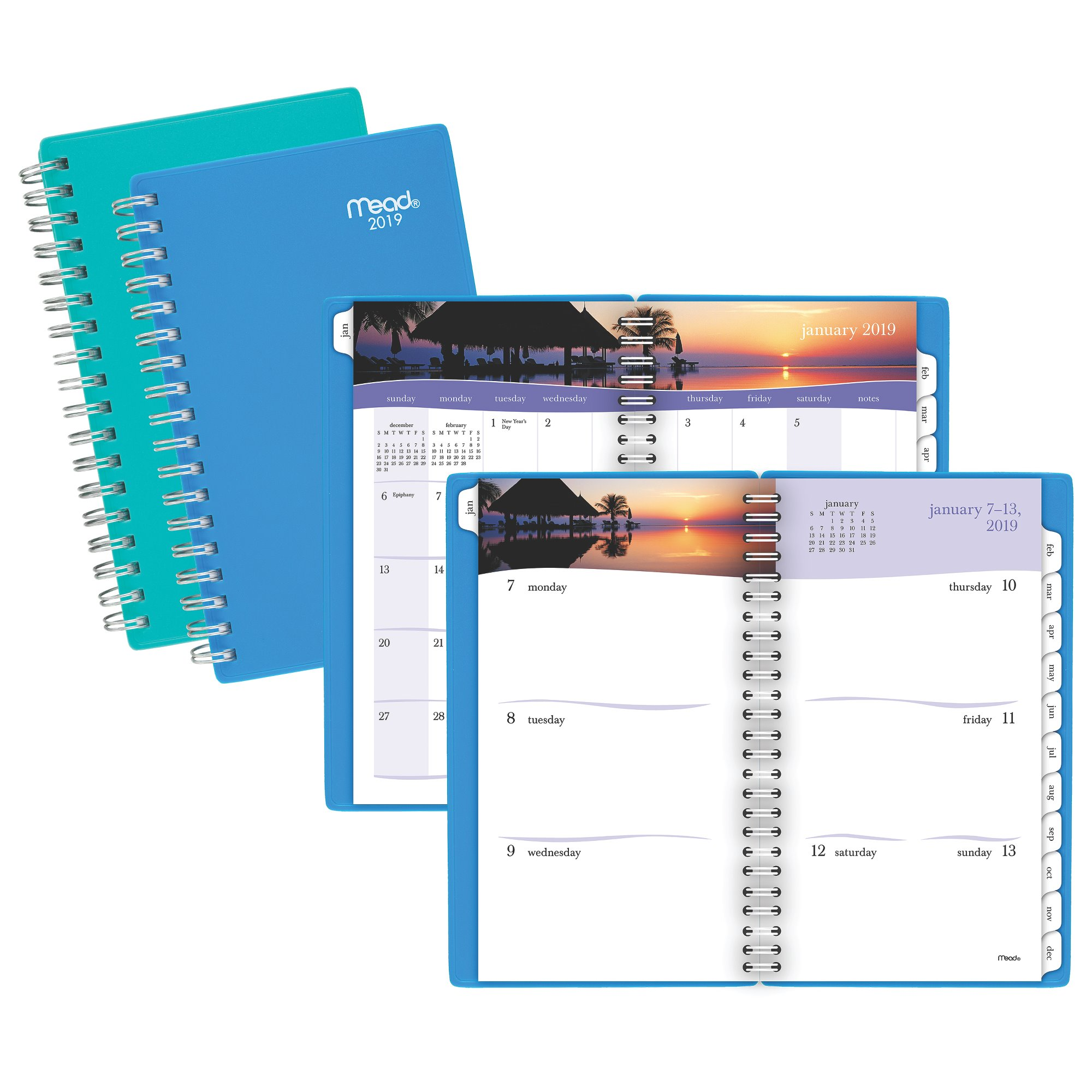 Mead Tropical Weekly-Monthly Planner - 2019 Weekly-Monthly Planners