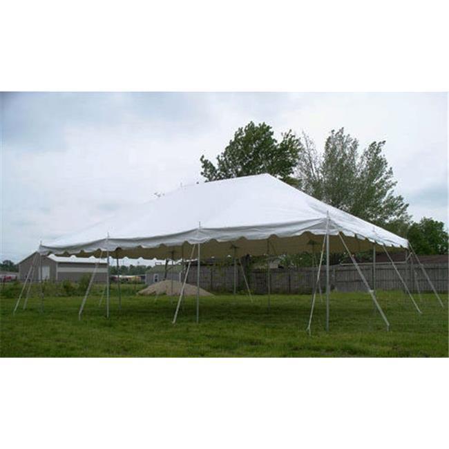 Celina Tents 20x20prestogalv 20x20 White Presto! Over the Counter Pole Galvanized Tent