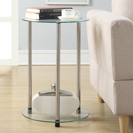 Convenience Concepts Designs2Go No Tools 2 Tier Round End Table, Multiple Colors ()