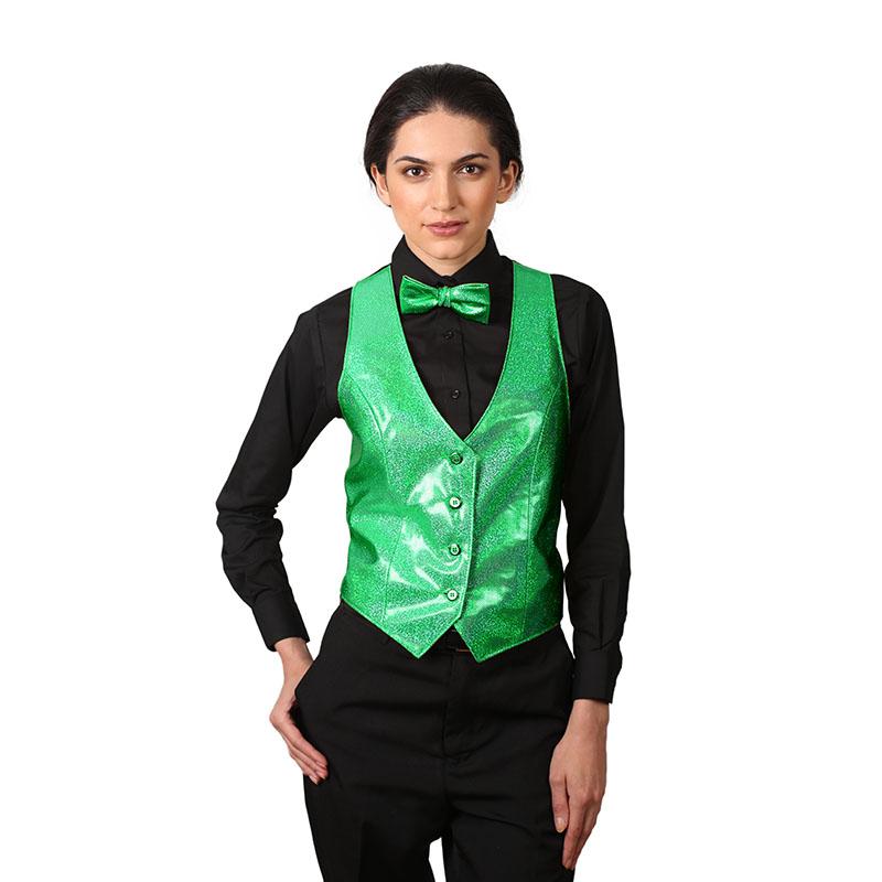 Women's Emerald Green Sparkling Vest - Walmart.com