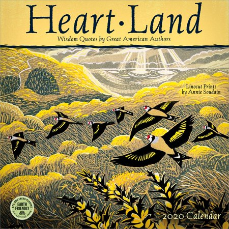 Heart Land 2020 Wall Calendar: Wisdom Quotes by Great American Authors