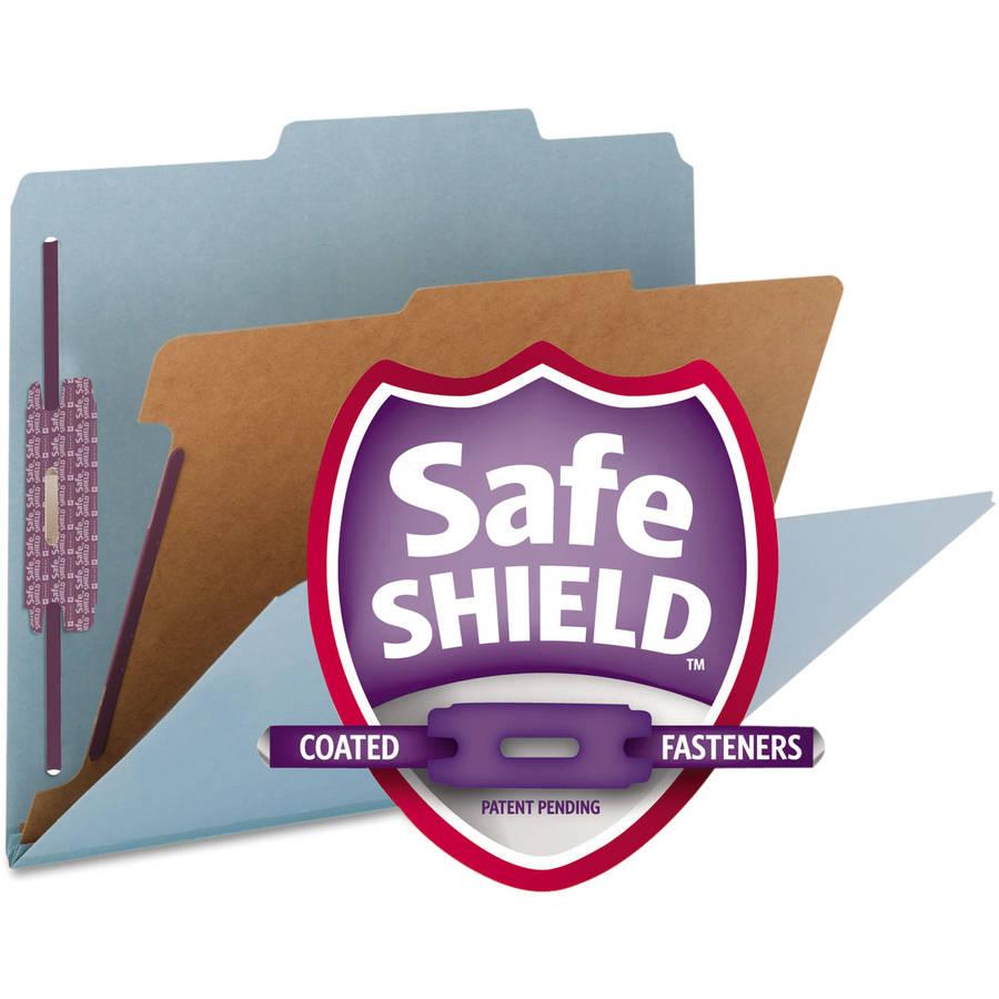 Smead Pressboard Classification Folders, Letter, 4-Section, 10/Box