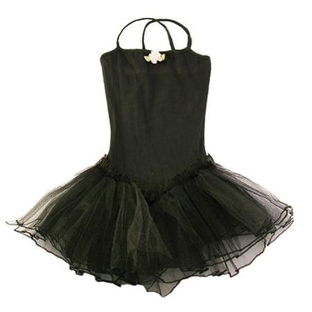 Black Rosette Tutu Leotard Dance Dress Toddler Girl 2T-8](Toddler Leopard Dress)
