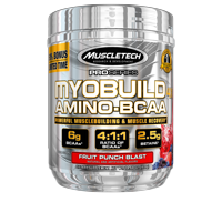 Pro Series Myobuild BCAA Amino Acids Supplement, Muscle Building and Recovery Formula with Betaine & Electrolytes, Fruit Punch Blast, 36 Servings (332g)