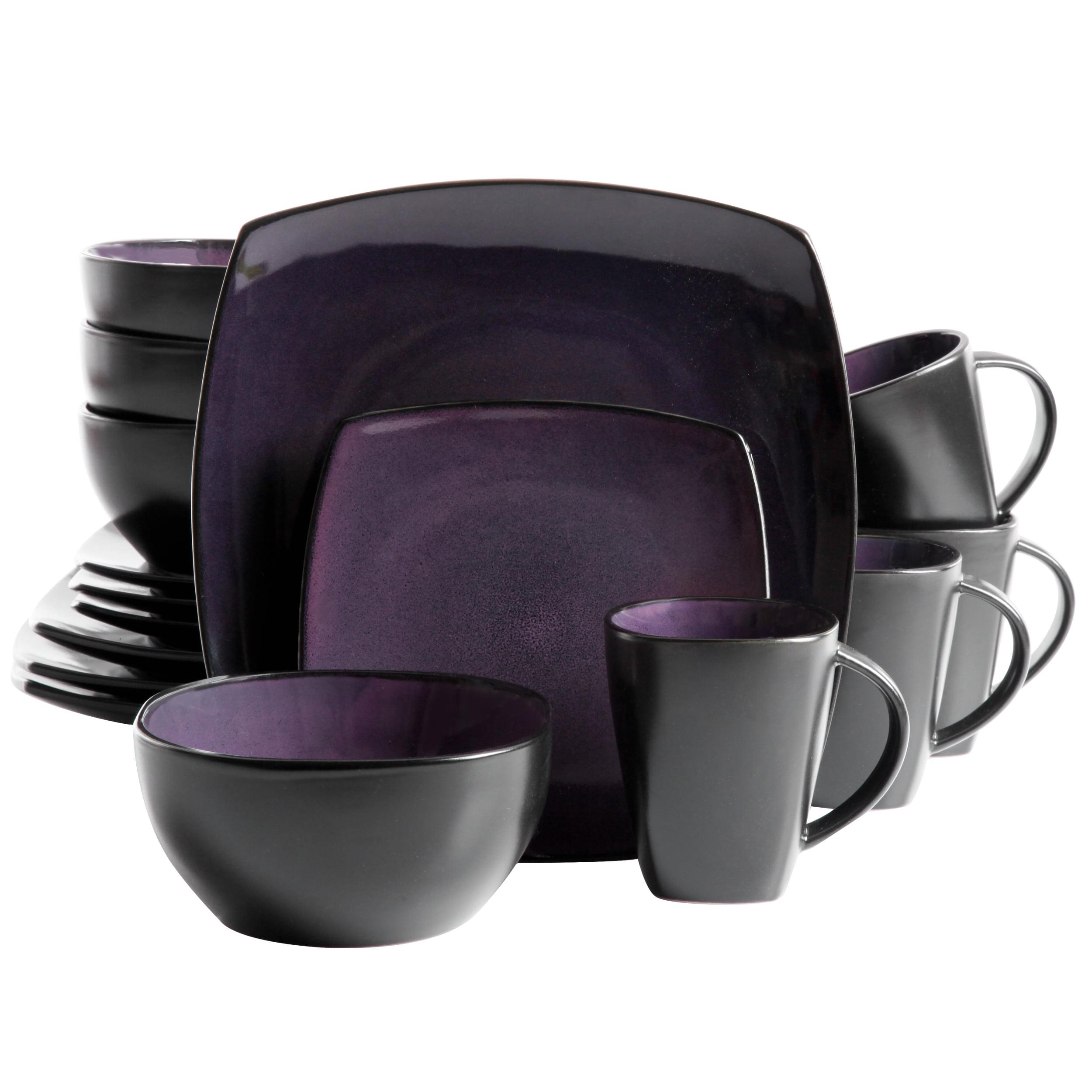 Gibson Home Soho Lounge Square Stoneware 16 Piece Dinnerware Set Walmart Com Walmart Com