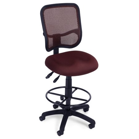 130-DK-A03 -WINE Office Furniture OFM Mesh Comfort Series Ergonomic Task Chair with Drafting Kit