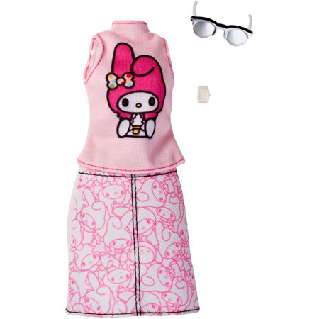 Barbie Hello Kitty My Melody Pink Top/Pink Outline Skirt