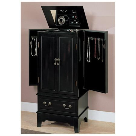 Coaster Jewelry Armoire, Black Finish by Visiondecor Furniture