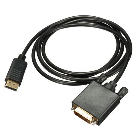 24 Pin Digital Dvi (1.8m/6FT 1.8M DisplayPort to DVI -D 24 Cable +1 Male Adapter Digital Video Cable Core Cord,Black )