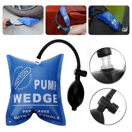 Blue Car Auto Air Pump Wedge Bag Inflatable Pad Door Window Entry Tool Opener Alignment Powerful Open Door lock /Pry Bar /Leveling Tool Support Pressure 441LB
