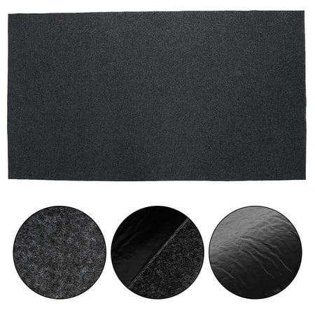 HERCHR  BBQ Floor Protective Mat Fireproof Heat ResistantGas Grill Splatter Outdoor Deck Patio Gas Grill Mat Mat Backyard Floor Protective Rug ()