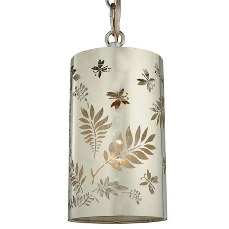 MEYDA 126755 4 in. W Butterflies and Ferns Mini Pendant