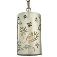 MEYDA 126755 4 in. W Butterflies and Ferns Mini Pendant