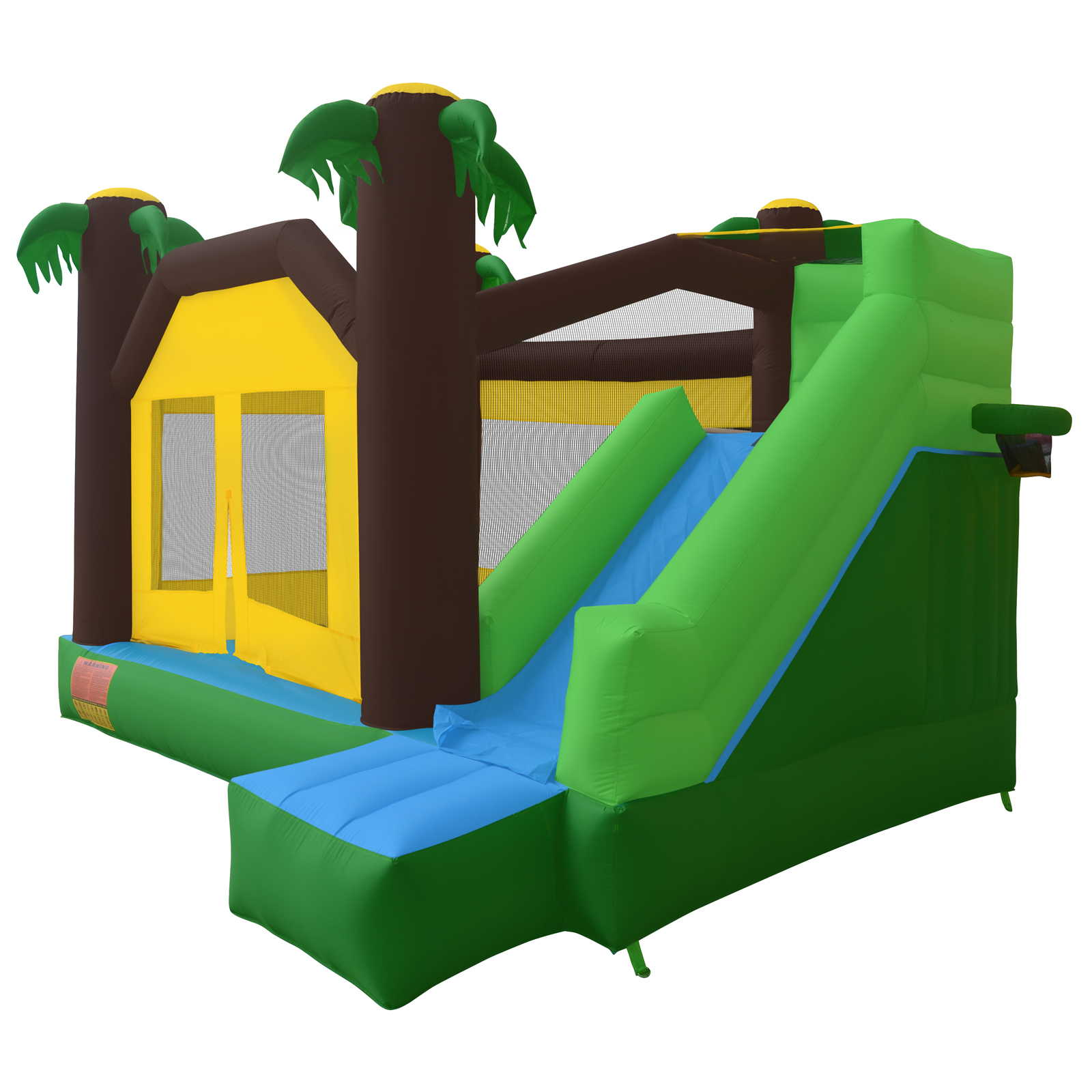 Cloud 9 Jungle Jumper Bounce House - Inflatable Bouncing Jumper with Climbing Wall and Slide