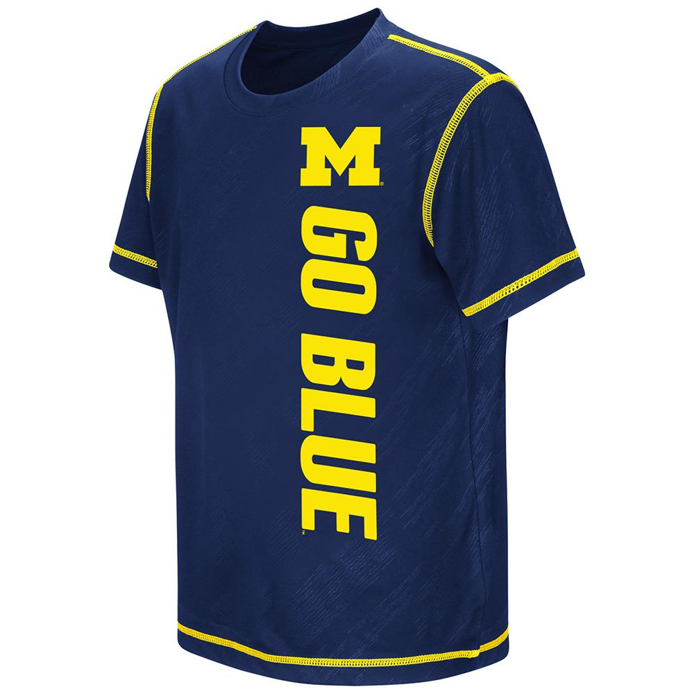 Youth NCAA Michigan Wolverines Short Sleeve Tee Shirt (Team Color)